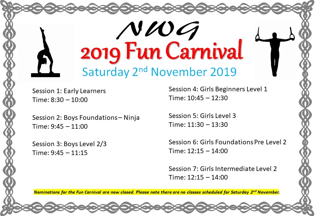 2019 November NWG Mount Isa North West Gymnastics Fun Comp Carnival