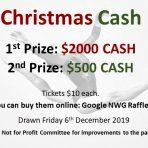 Christmas Cash Raffle Ticket