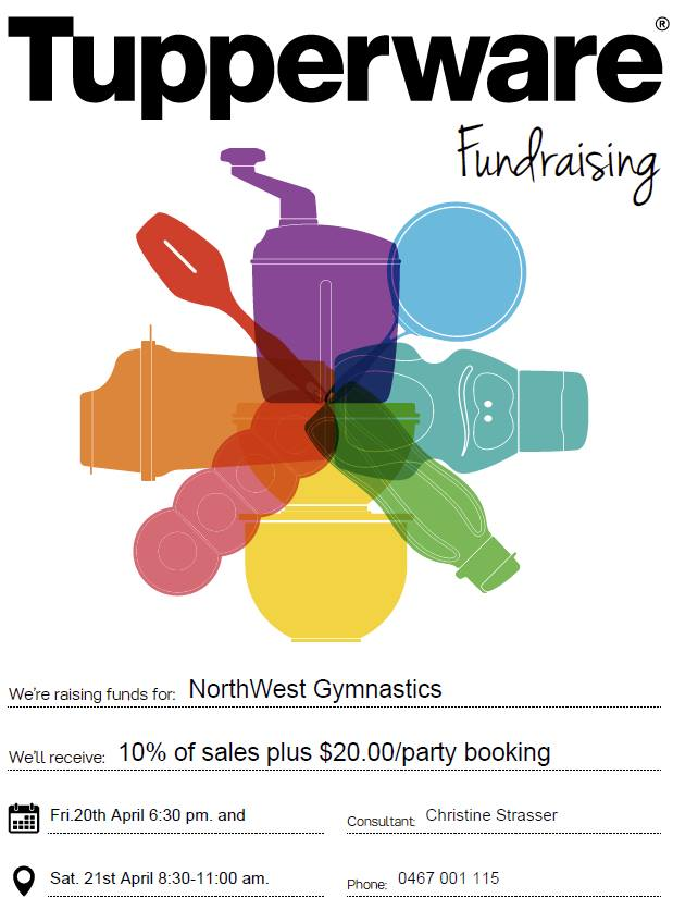 NWG North West Gymnastics Tupperware Fundraiser