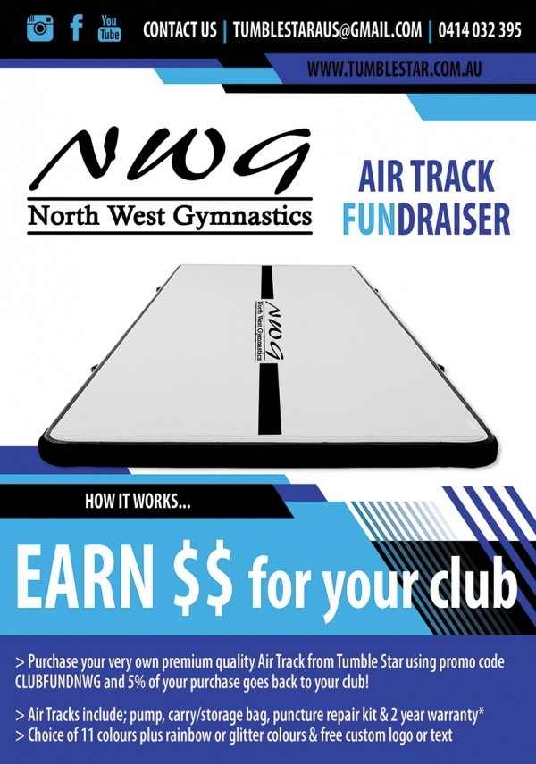 NWG North West Gymnastics nwgmountisa tumblestaraus air track