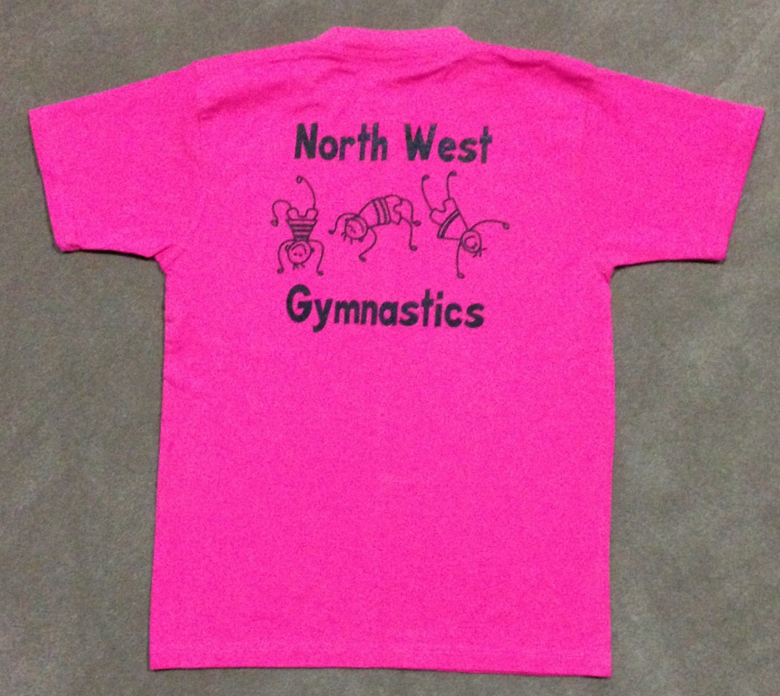 North West Gymnastics Mount Isa Kids T-Shirt Back Pink NWG mountisagymnastics nwgmountisa