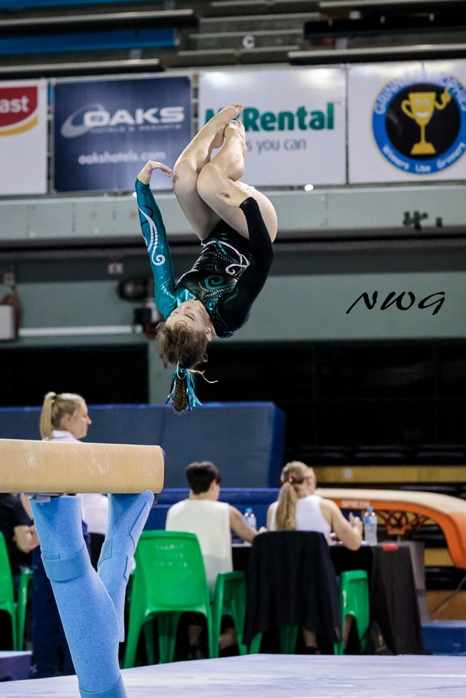 2018 Gymnastics Queensland, Junior MAG & WAG Championships held at the Chandler Area, Sleeman Sports Centre, Chandler Brisbane, Queensland, Australia, 24/9/2018 nwgmountisa North West Gymnastics mount isa beam salto